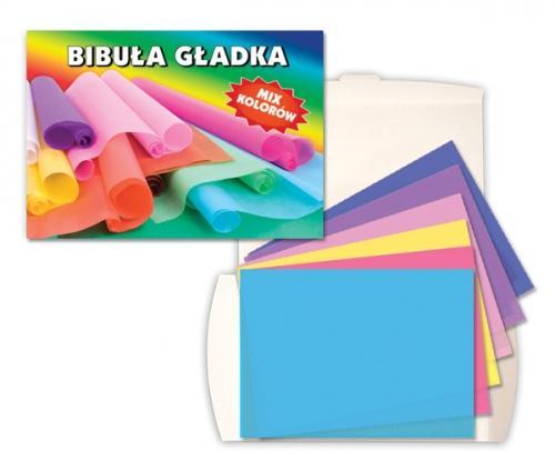 Bibuła gładka C4 20 kolorów w teczce STARPAK 222722