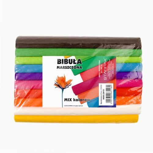 Bibuła marszczona 25x200 cm mix kolorów STARPAK 239759