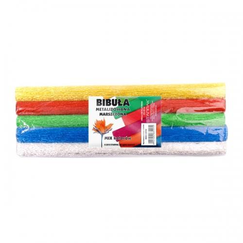 Bibuła marszczona 25x50 cm kolorowa metalizowana STARPAK 239760