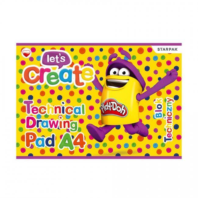 Blok techniczny A4 Play-Doh STARPAK 398899
