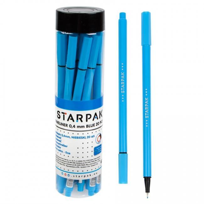 Cienkopis okrągły 0.4 niebieski w tubie STARPAK 433044