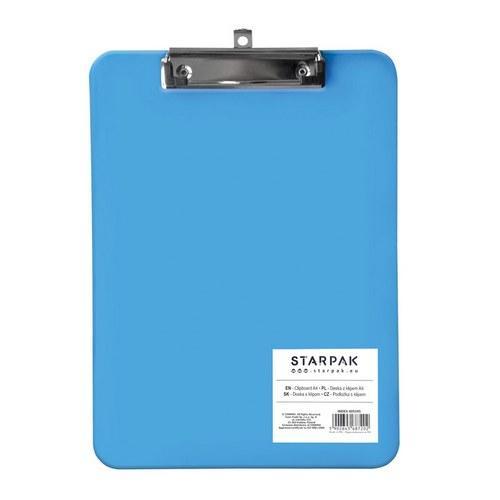 Clipboard A4 plastikowy niebieski STARPAK 405595