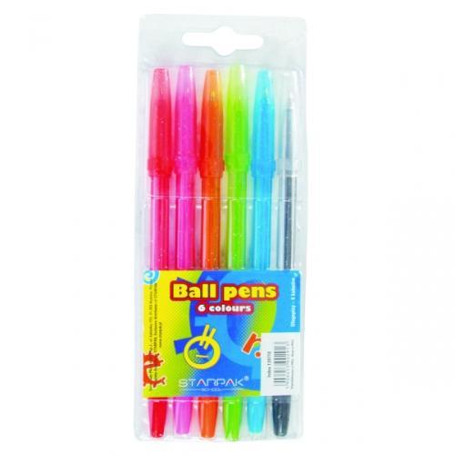 Długopis zamykany 6 kolorów STARPAK 139710