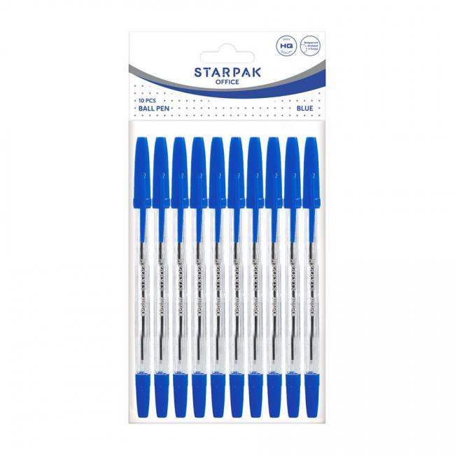 Długopis zamykany Cristal niebieski 10 sztuk STARPAK 452226