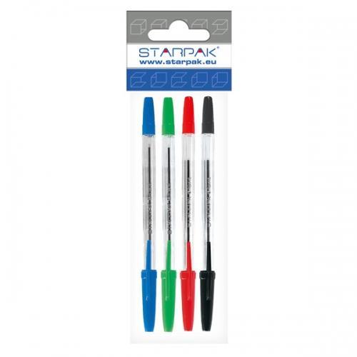 Długopis zamykany Cristal 4 kolory STARPAK 242542