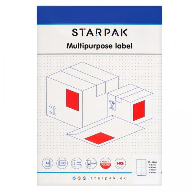Etykieta samoprzylepna 105x148 STARPAK 424006