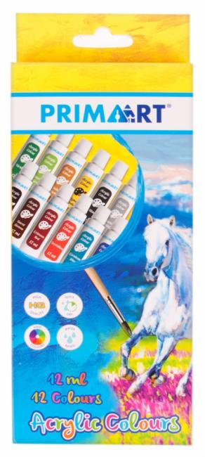 Farby akrylowe 12 kolorów PRIMA ART 322823