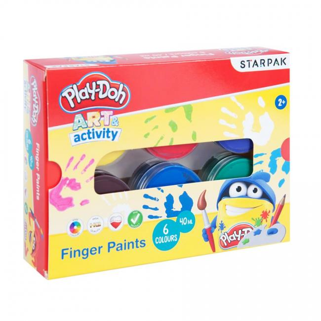 Farby do  malowania palcami 6 kolorów 40 ml Play-Doh STARPAK 453900