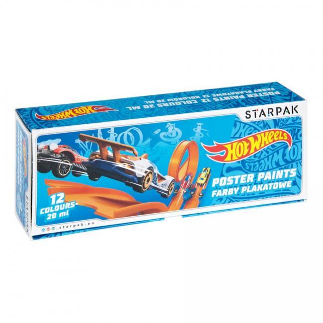 Farby plakatowe 12 kolorów Hot Wheels STARPAK 337500