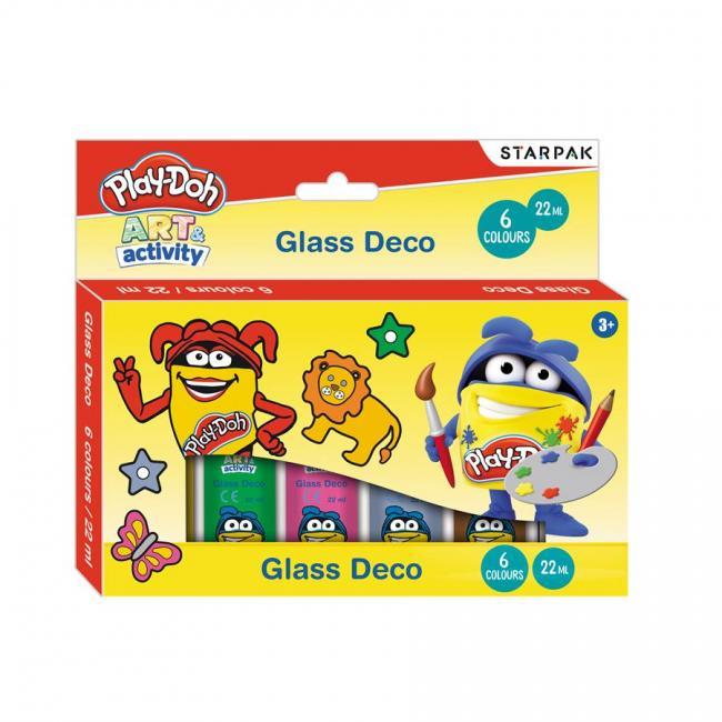 Farby witrażowe 6 kolorów  22ML Play-Doh STARPAK 453901