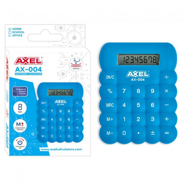 Kalkulator AX-004 niebieski silikonowy AXEL 457667