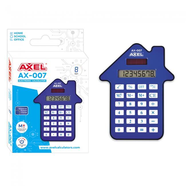 Kalkulator AX-007 niebieski AXEL 457669