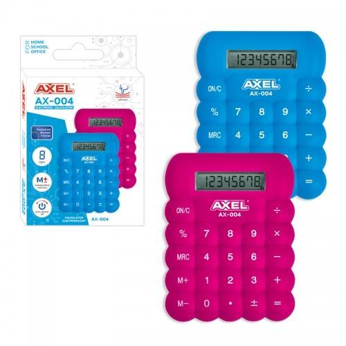 Kalkulator AX-004 niebieski/różowy silikonowy AXEL 432432