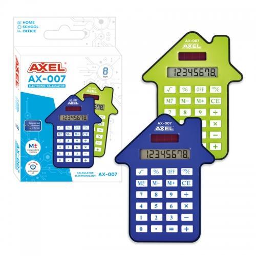 Kalkulator AX-007 niebieski/seledyn AXEL 432950