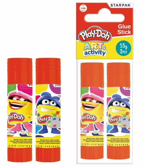 Klej w sztyfcie 15G 2SZT PBH12/96 Play-Doh  STARPAK 453907