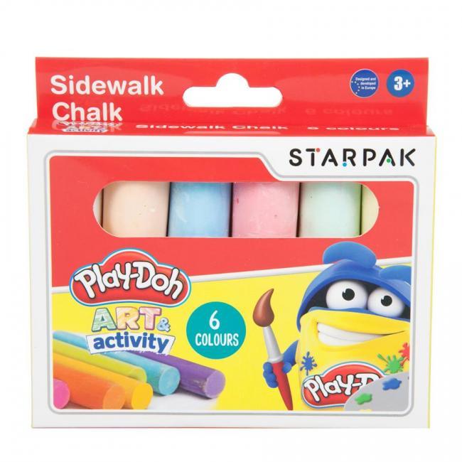 Kreda chodnikowa 6 kolorów Jumbo Play-Doh STARPAK 453897