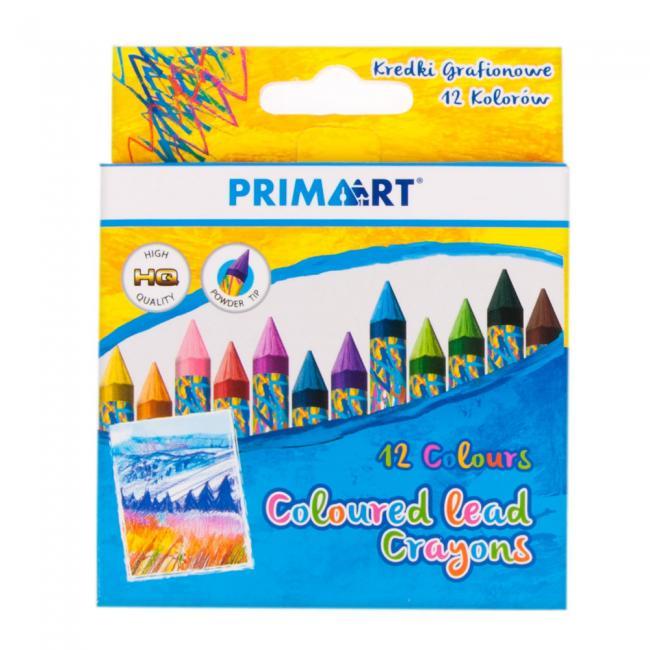 Kredki grafionowe 12 kolorów PRIMA ART 384714