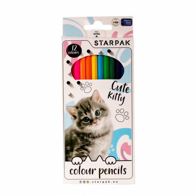 Kredki ołówkowe 12KOL/180 Kitty PUD 12/144 STARPAK 438364