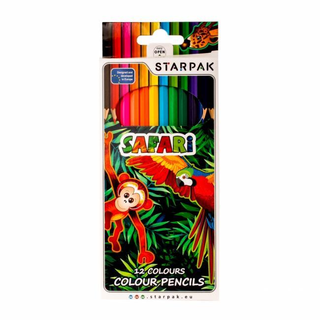 Kredki ołówkowe 12 kol. STARPAK 216340