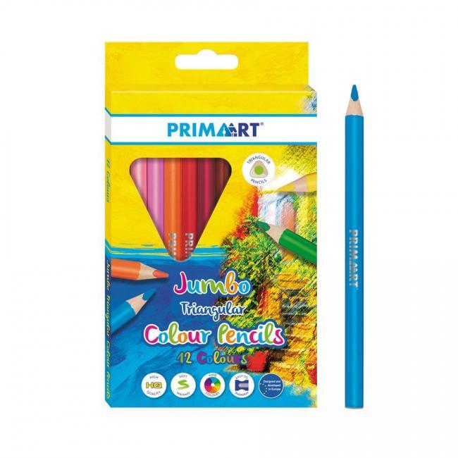 Kredki ołówkowe 12 kolorów Jumbo trójkątne PRIMA ART 447727