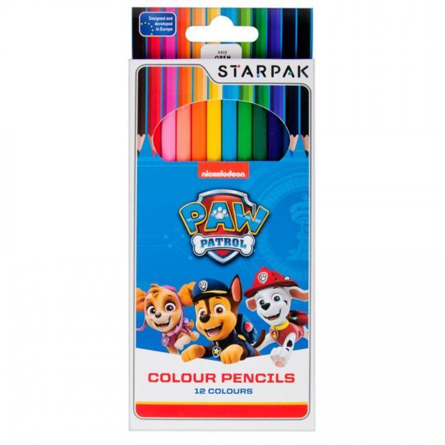 Kredki ołówkowe 12 kolorów Psi Patrol STARPAK 352911