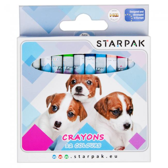 Kredki woskowe 12 kolorów Doggy STARPAK 397694
