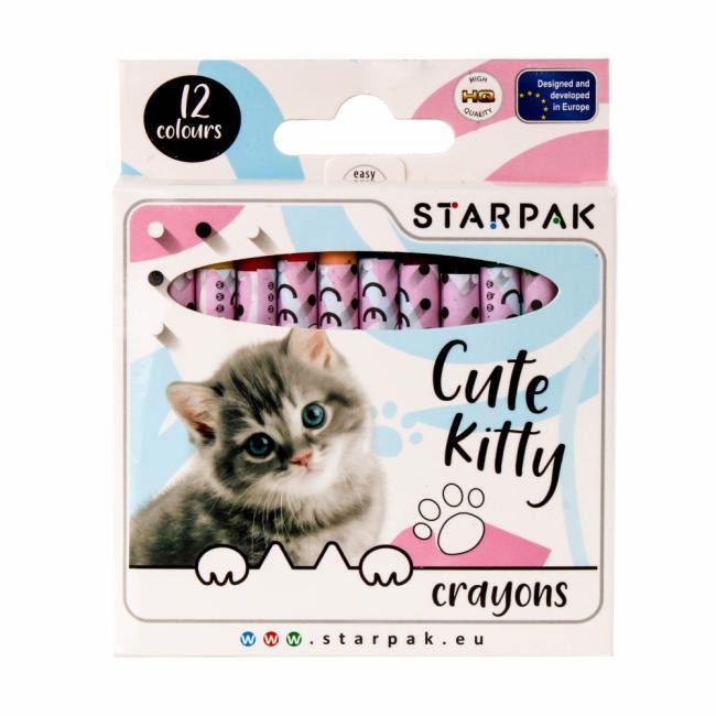 Kredki woskowe 12 kolorów Cuties STARPAK 397930