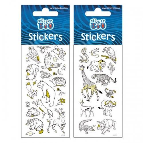 Naklejki StickerBoo 10x245 silver Zwierzęta PBH