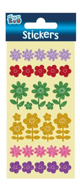 Naklejki Sticker Boo 10x20 shimmer Kwiaty PHB STARPAK 382544