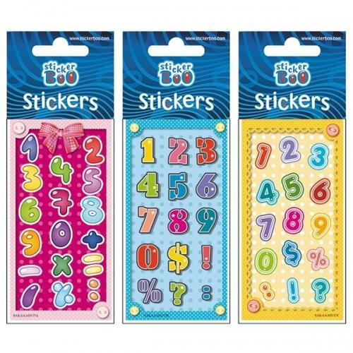 Naklejki StickerBoo Silver Cyferki 2 66x180 382530
