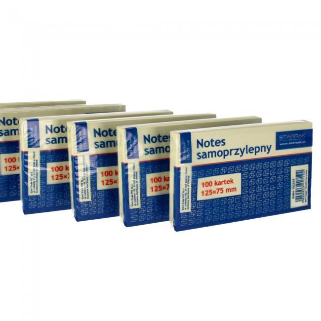 Notes samoprzylepny 125x75 mm STARPAK 152615