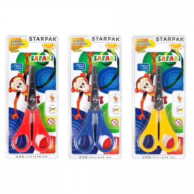 Nożycczki metalowe dla leworęcznych Safari STARPAK 222560