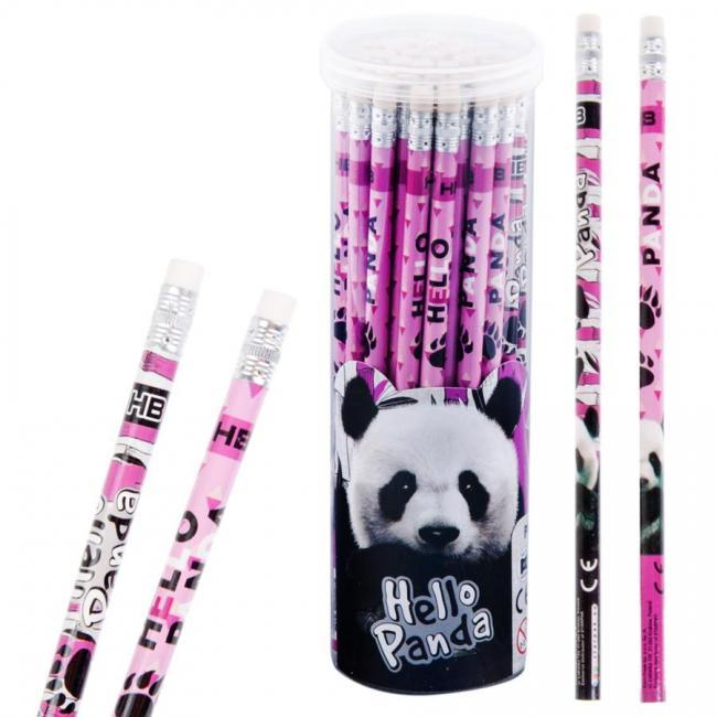 Ołówek z gumką Panda 48 sztuk w tubie STARPAK 397703
