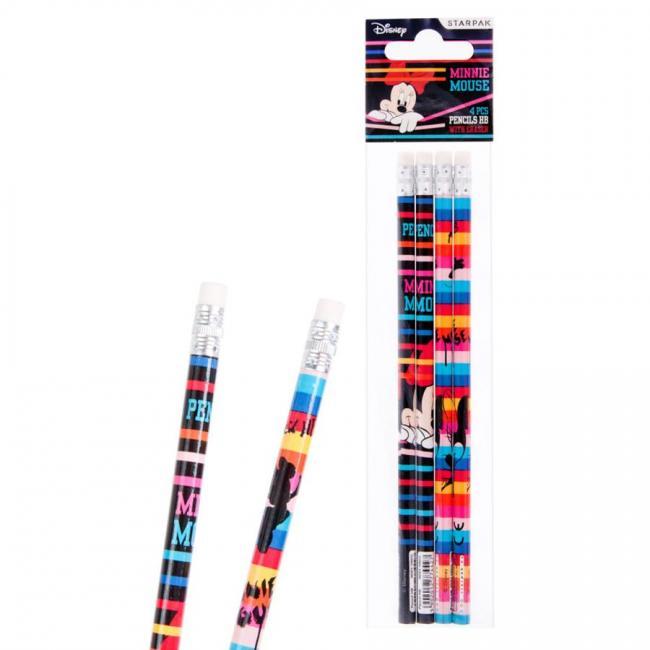 Ołówek z gumką 4 szt. STARPAK 352890