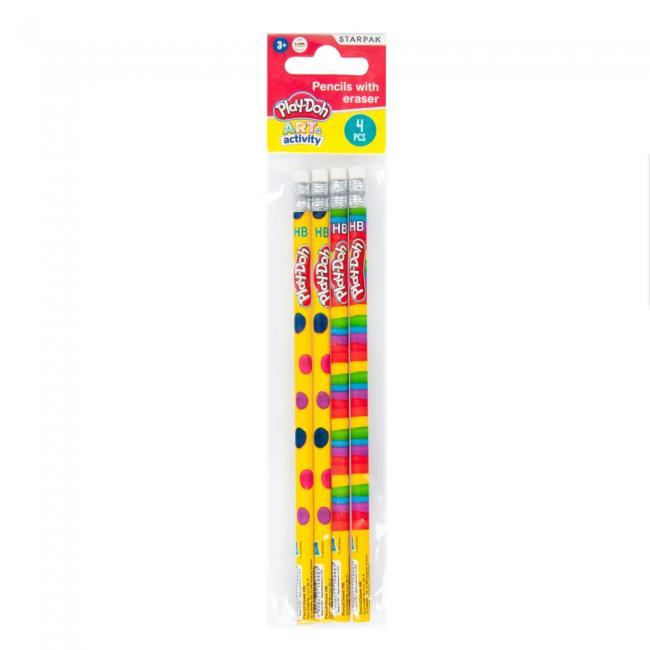 Ołówek z gumką Play-Doh 4 sztuki STARPAK 453820