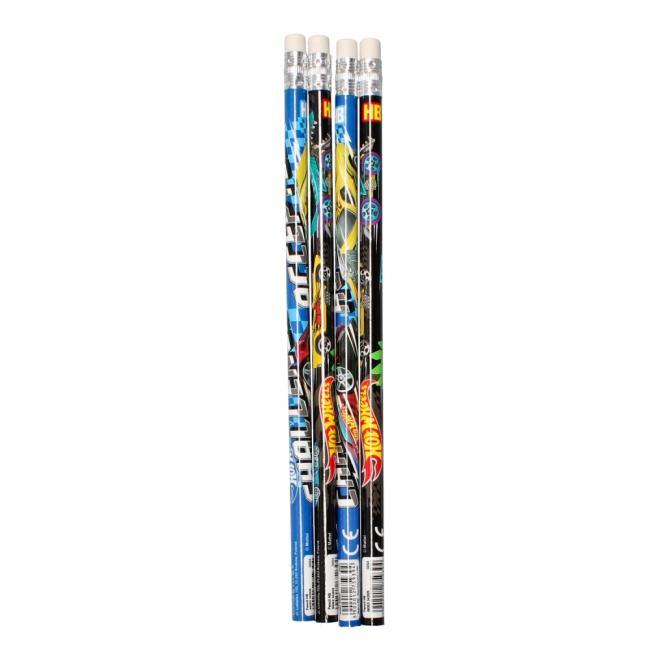 Ołówek z gumką Hot Wheels 4 sztuki STARPAK 342832