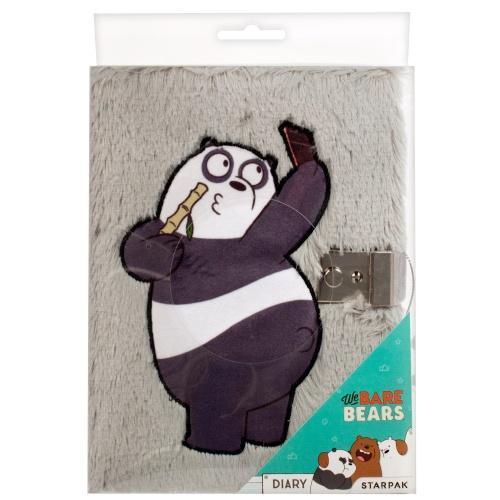 Pamiętnik pluszowy na kłódkę We Bare Bears STARPAK 410012