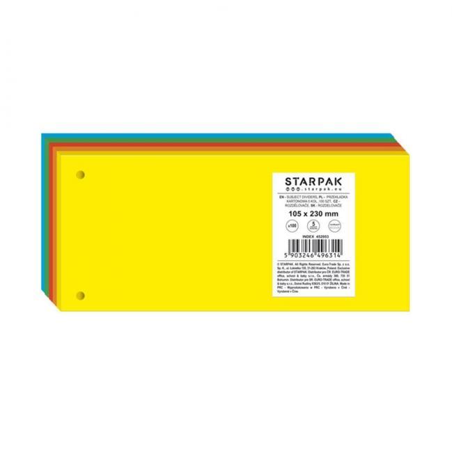 Przekładka 101X240 kartonowa 5kol. FOL STARPAK 452953