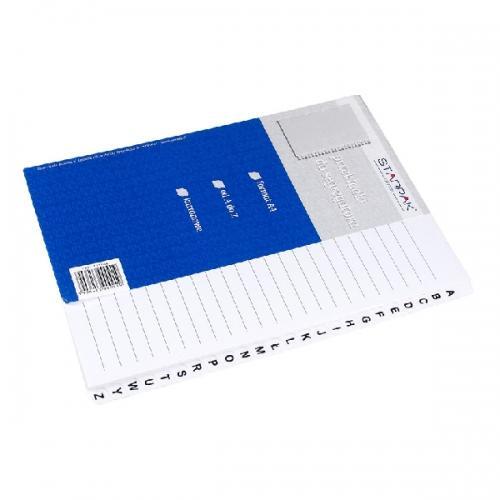 Przekładki A4 kartonowe alfabetyczne STARPAK 313564