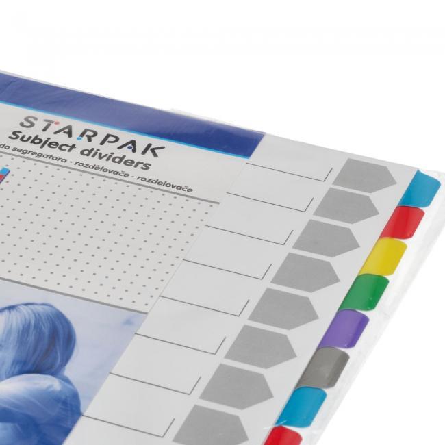 Przekładki A4 kartonowe kolorowe STARPAK 131563