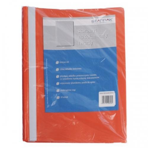 Skoroszyt A4 na dokumenty pomarańczowy STARPAK 265799