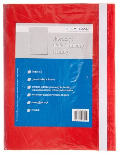 Skoroszyt na dokumenty A4 czerwony STARPAK 108397