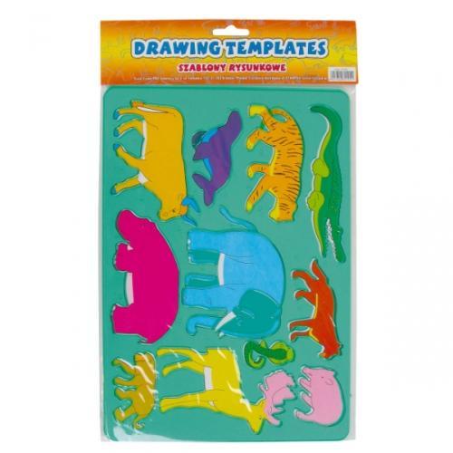 Szablon plastikowy zwierzaki STARPAK 164367