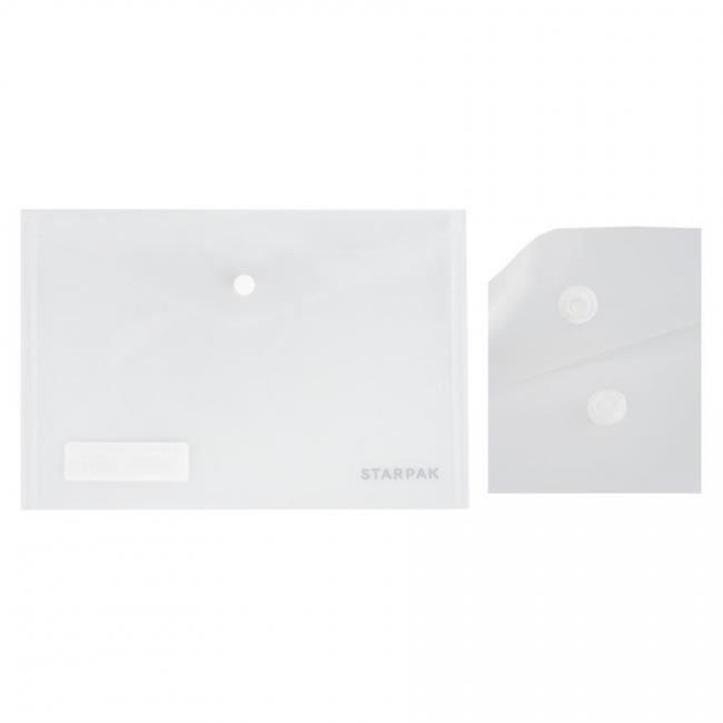 Teczka kopertowa A5 na zatrzask przeźroczysta STARPAK 393898
