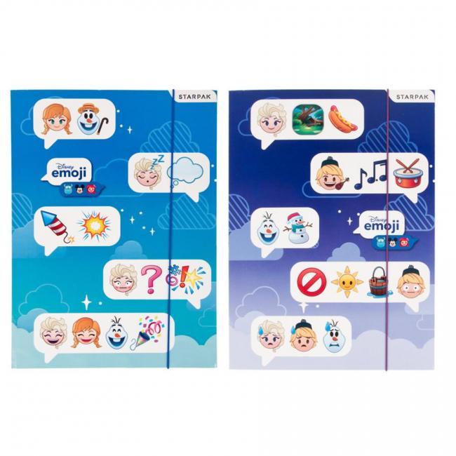 Teczka z gumką A4 Emoji Frozen STARPAK 397925