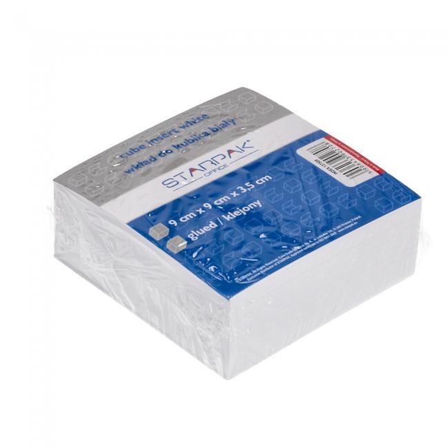 Wkład do kubika klejony biały 90x90mm STARPAK 137509