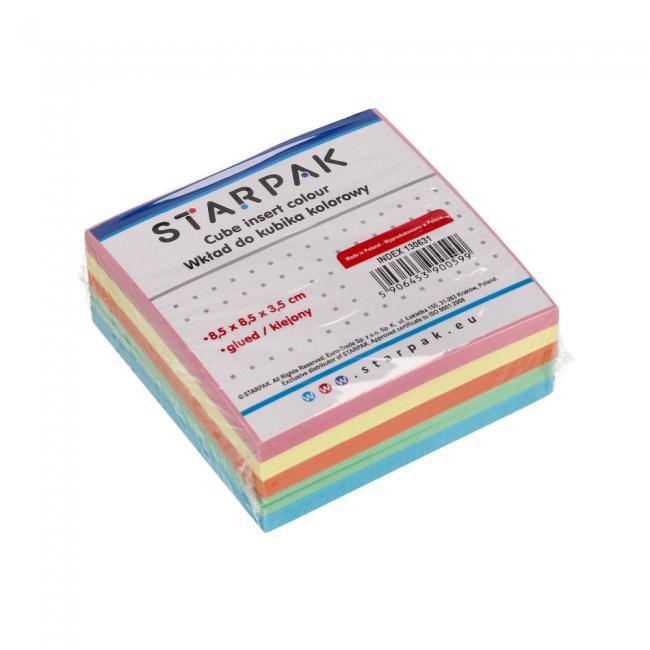 Wkład do kubika klejony kolorowy 85x85mm STARPAK 130631