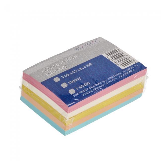 Wkład do kubika klejony kolorowy 90x65mm STARPAK 137511