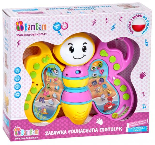 Zabawka edukacyjna Motyl BAM BAM 334781