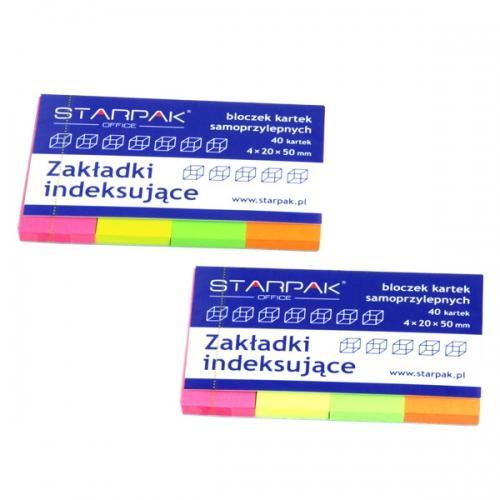 Zakładki indeksujące neonowe STARPAK 227917